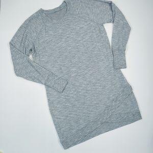 Athleta Gray Jersey Knit Midi Dress in Sz.Lg